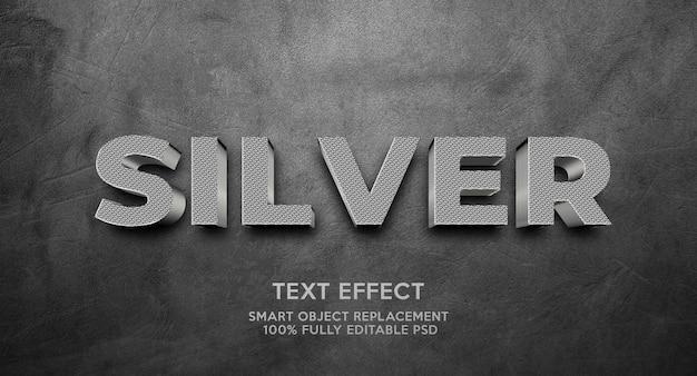 Plantilla de efecto de texto plateado