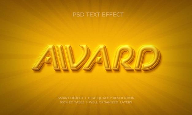 Plantilla de efecto de texto de premio de lujo