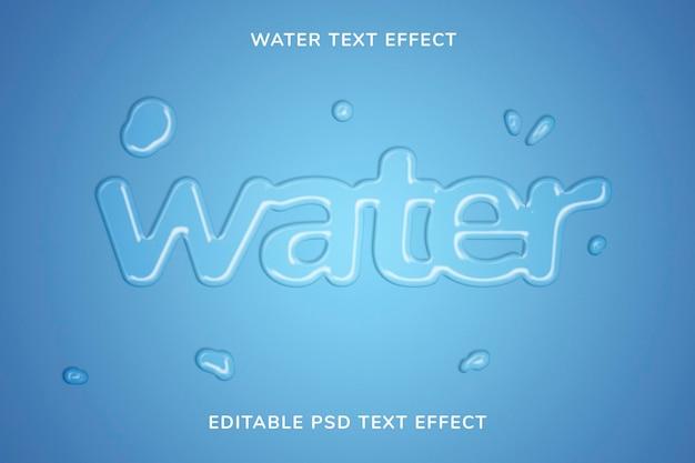 Plantilla de efecto de texto en relieve de gelatina psd editable