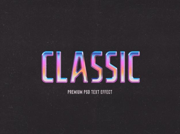 Plantilla de efecto de texto retro y clásico de estilo años 80