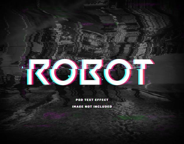 Plantilla de efecto de texto de robot