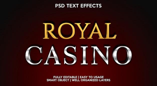Plantilla de efecto de texto de royal casino