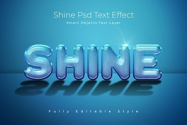 Plantilla de efecto de texto shine