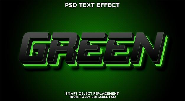 Plantilla de efecto de texto verde