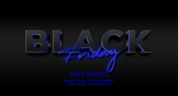 Plantilla de efecto de texto de viernes negro