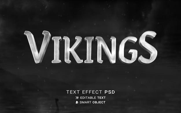 Plantilla de efecto de texto vikingos