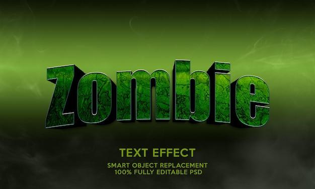 Plantilla de efecto de texto zombie
