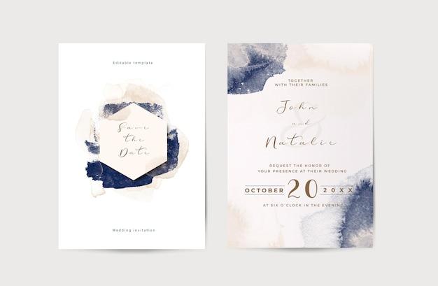 Plantilla elegante de invitación de boda de compromiso