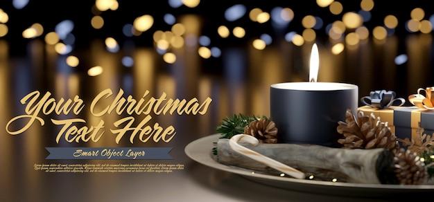 Plantilla de una escena navideña