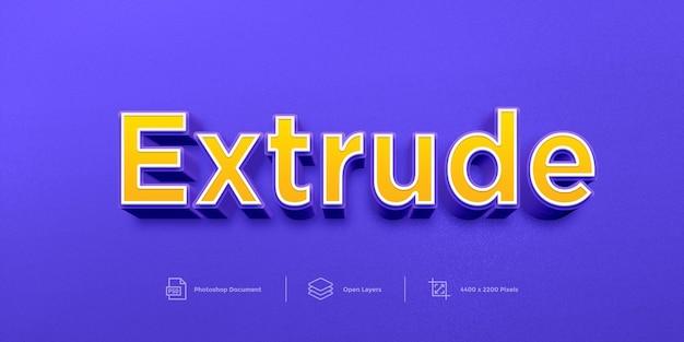 Plantilla de estilo de capa de diseño de efecto de texto