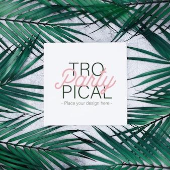 Plantilla de fiesta tropical