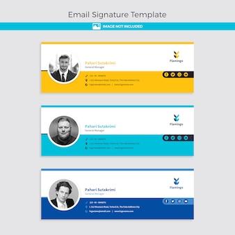 Plantilla de firma de correo electrónico