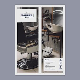 Plantilla de flyer con concepto de peluquero