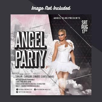 Plantilla flyer de la fiesta del ángel