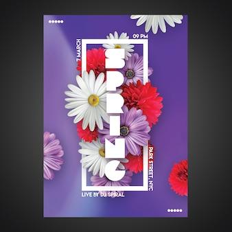 Plantilla de flyer de fiesta creativa cmyk listo