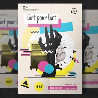 Plantilla de flyer moderno artístico