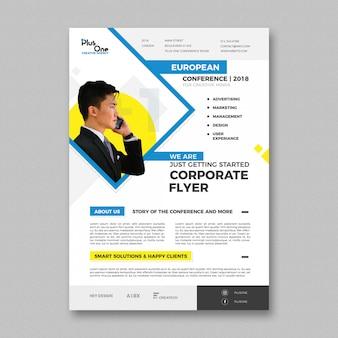 Plantilla de folleto corporativo