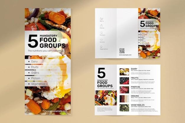 Plantilla de folleto de grupo de alimentos psd