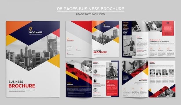 Plantilla de folleto de negocios de 08 páginas