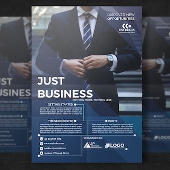 Plantilla de folleto de negocios elegante