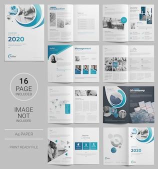 Plantilla de folleto de negocios de página