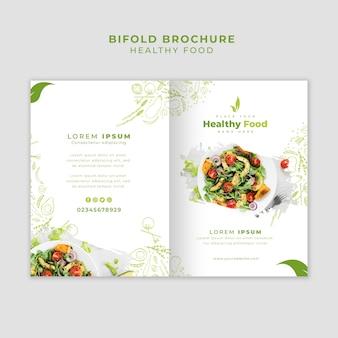 Plantilla de folleto de restaurante bifold
