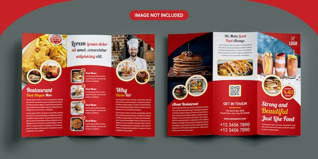 Plantilla de folleto - restaurante triple