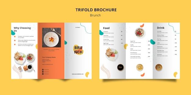 Plantilla de folleto con tema de brunch
