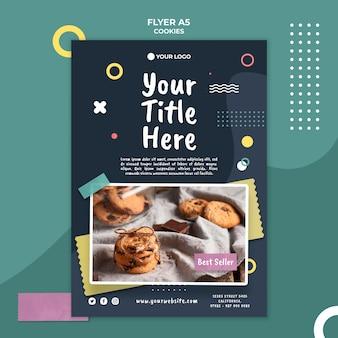 Plantilla de folleto de tienda de galletas