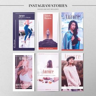 Plantilla de historia de instagram de moda