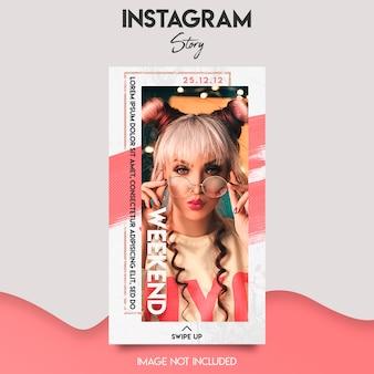 Plantilla de historia de instagram