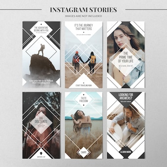 Plantilla de historia mínima de instagram