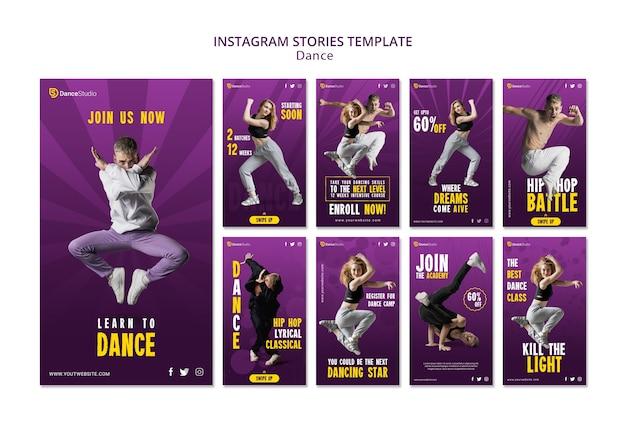 Plantilla de historias de instagram de baile