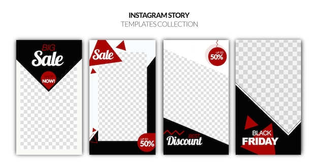 Plantilla de historias de instagram de black friday