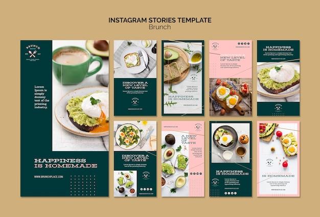 Plantilla de historias de instagram con brunch