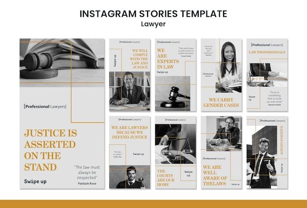 Plantilla de historias de instagram de bufete de abogados