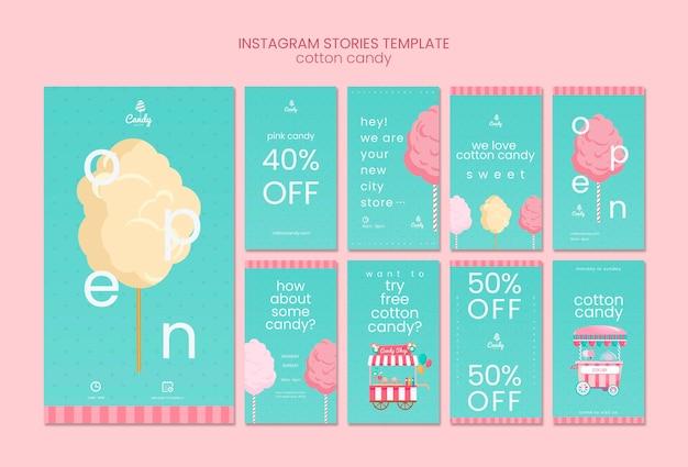 Plantilla de historias de instagram de candy shop