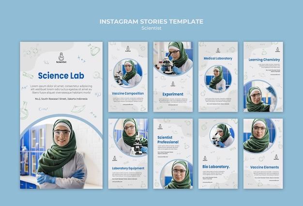 Plantilla de historias de instagram del club de ciencia