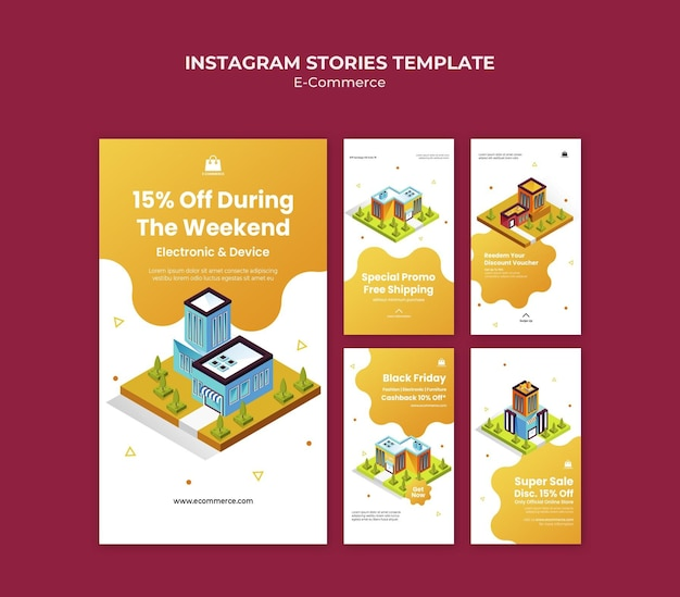 Plantilla de historias de instagram de comercio electrónico
