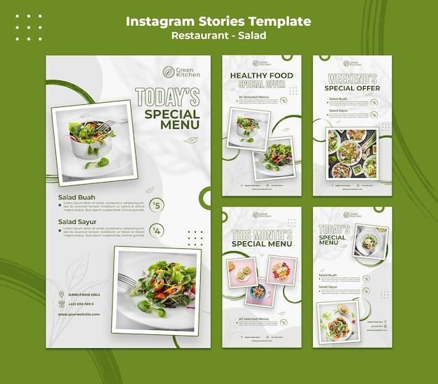 Plantilla de historias de instagram de comida saludable