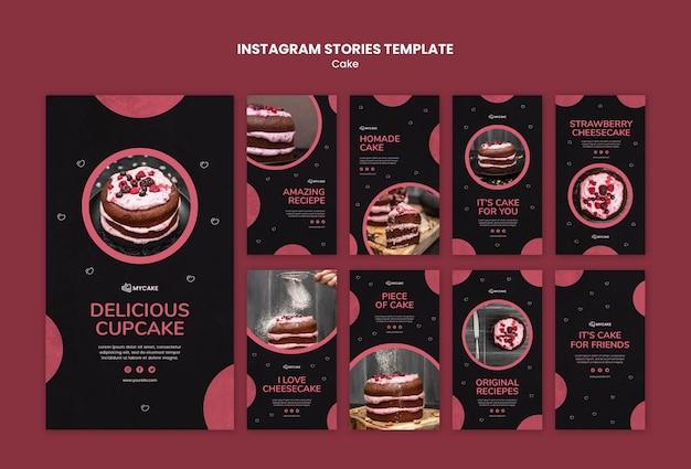 Plantilla de historias de instagram de cupcake delicioso