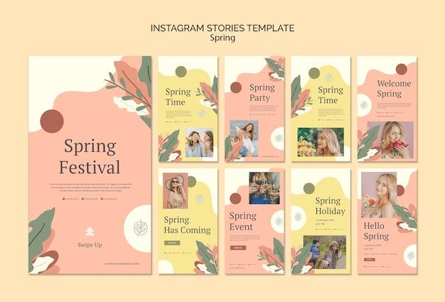 Plantilla de historias de instagram de eventos de primavera