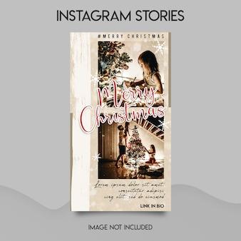 Plantilla de historias de instagram de feliz navidad
