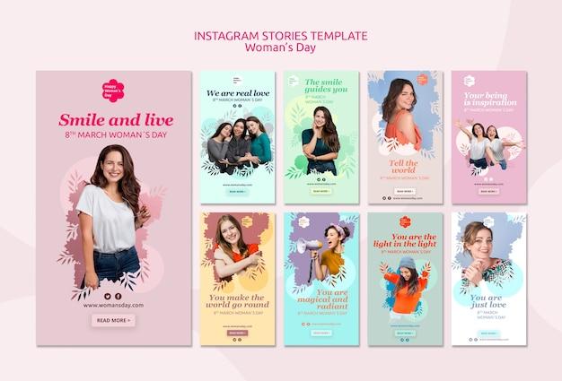 Plantilla de historias de instagram para mujeres