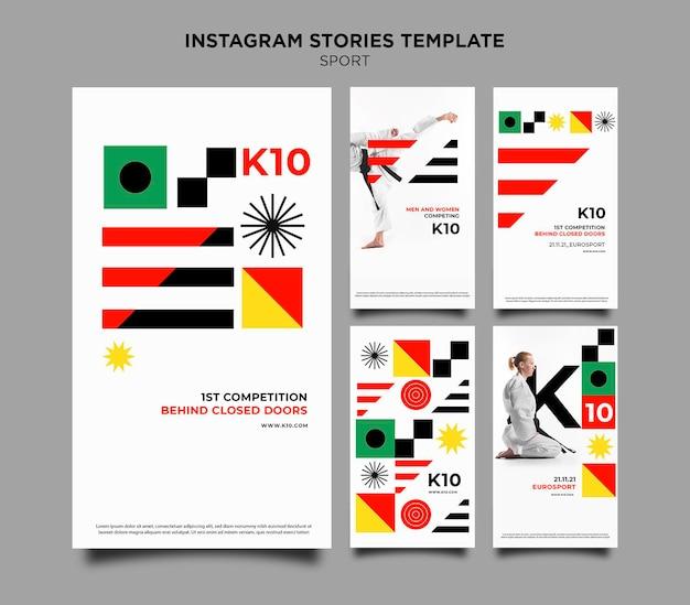 Plantilla de historias de instagram de sport k10