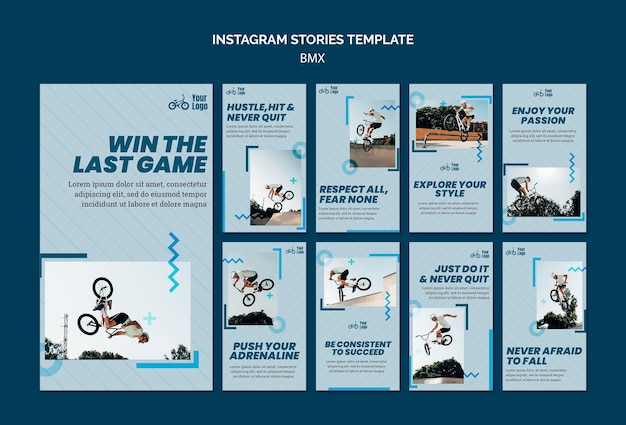 Plantilla de historias de instagram de tienda bmx