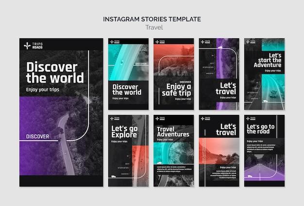 Plantilla de historias de instagram de viajes y aventuras
