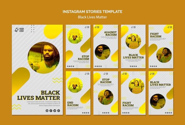 Plantilla de historias de instagram de vidas negras importa