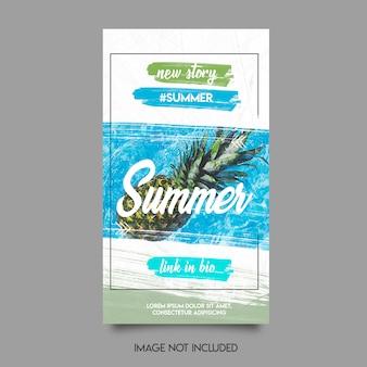 Plantilla de historias de verano insta