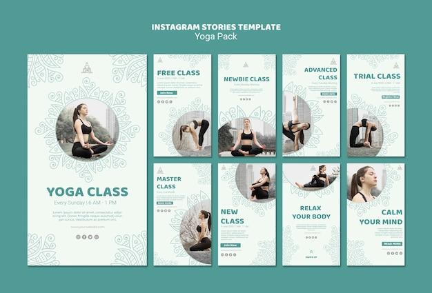 Plantilla de historias de yoga instagram